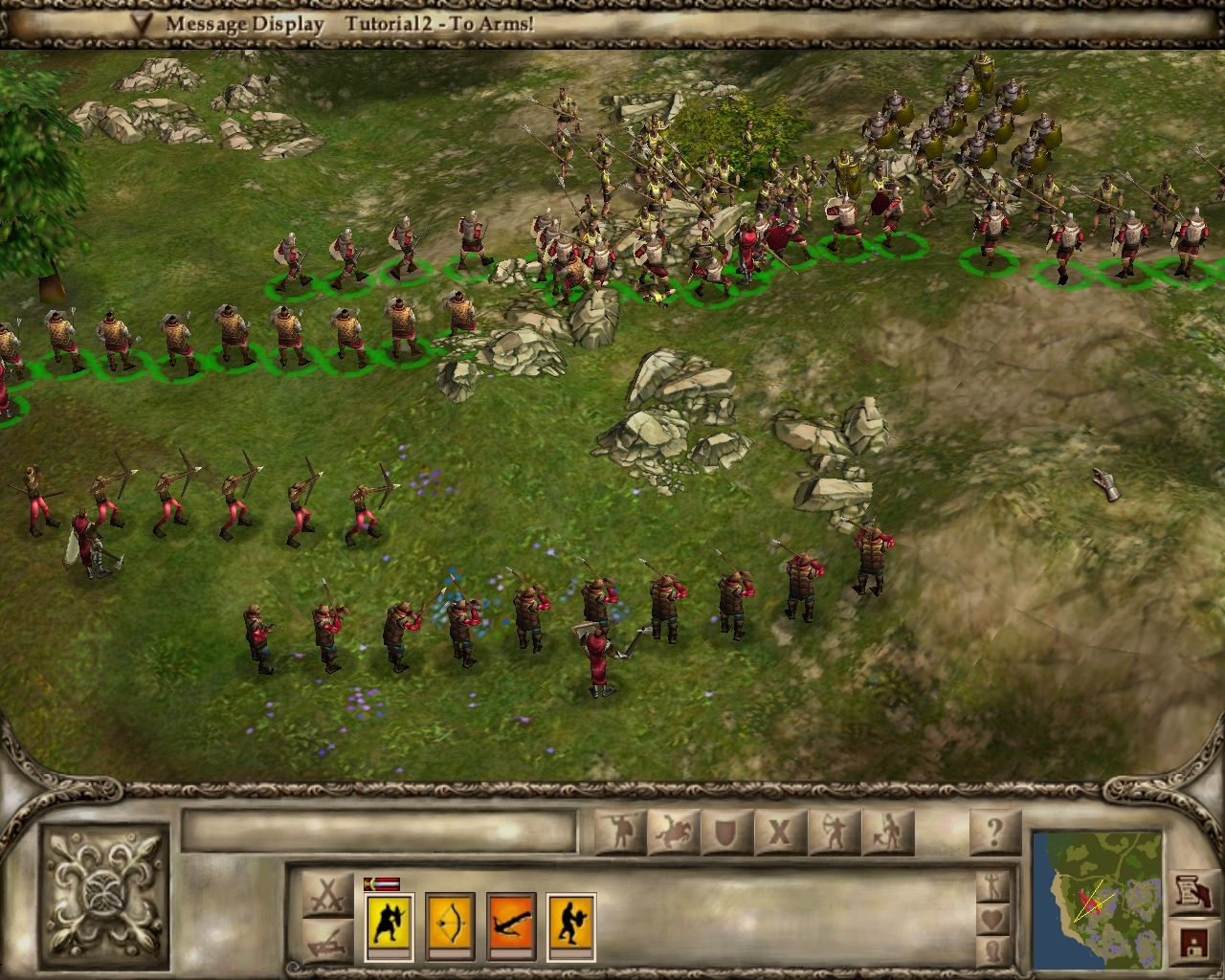 Lords of the Realm III Windows Our first battle on the tutorial, it looks so easy