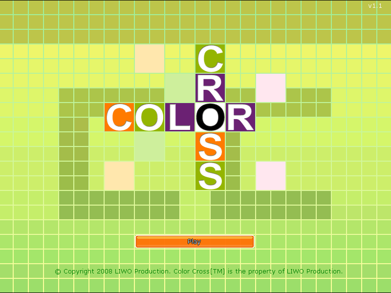 Color Cross Windows Title screen