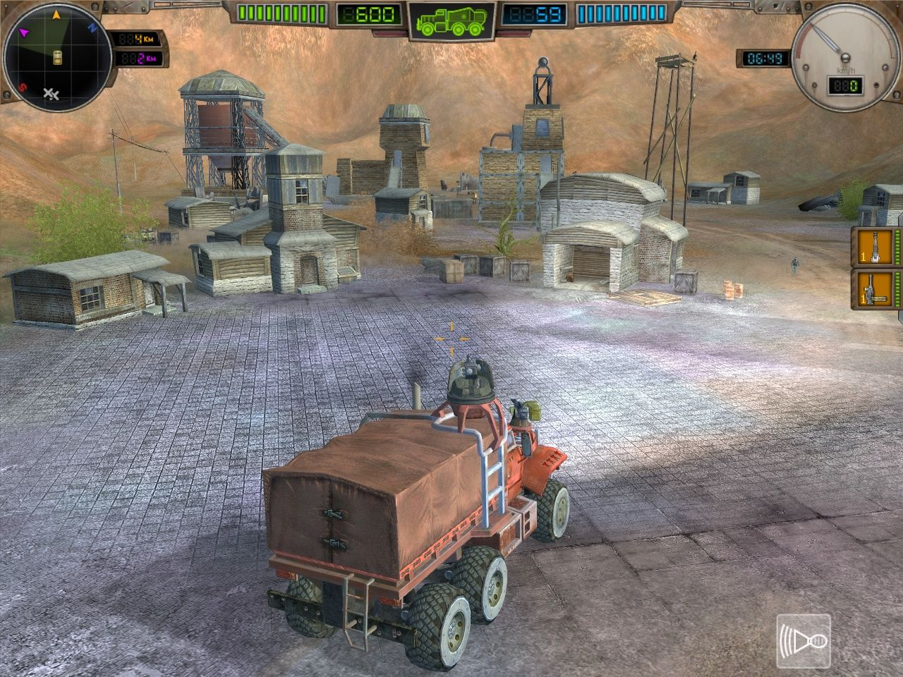 Hard Truck: Apocalypse - Rise of Clans Windows Arrival in a small town