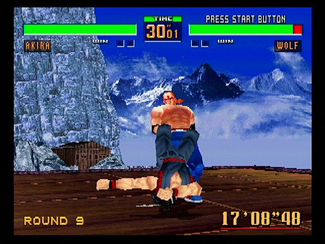 Virtua Fighter 2 SEGA Saturn Wolf's spin-you-around-and-toss-you move