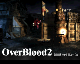 OverBlood 2 PlayStation Title screen