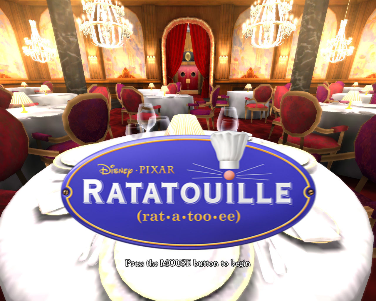 Ratatouille Windows Title screen