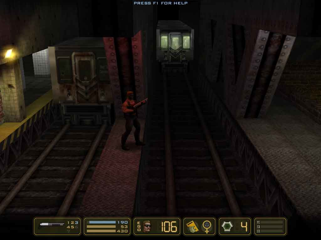 Duke Nukem: Manhattan Project Windows Train approaching Duke