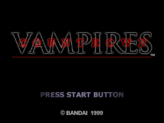 Countdown Vampires PlayStation Title Screen