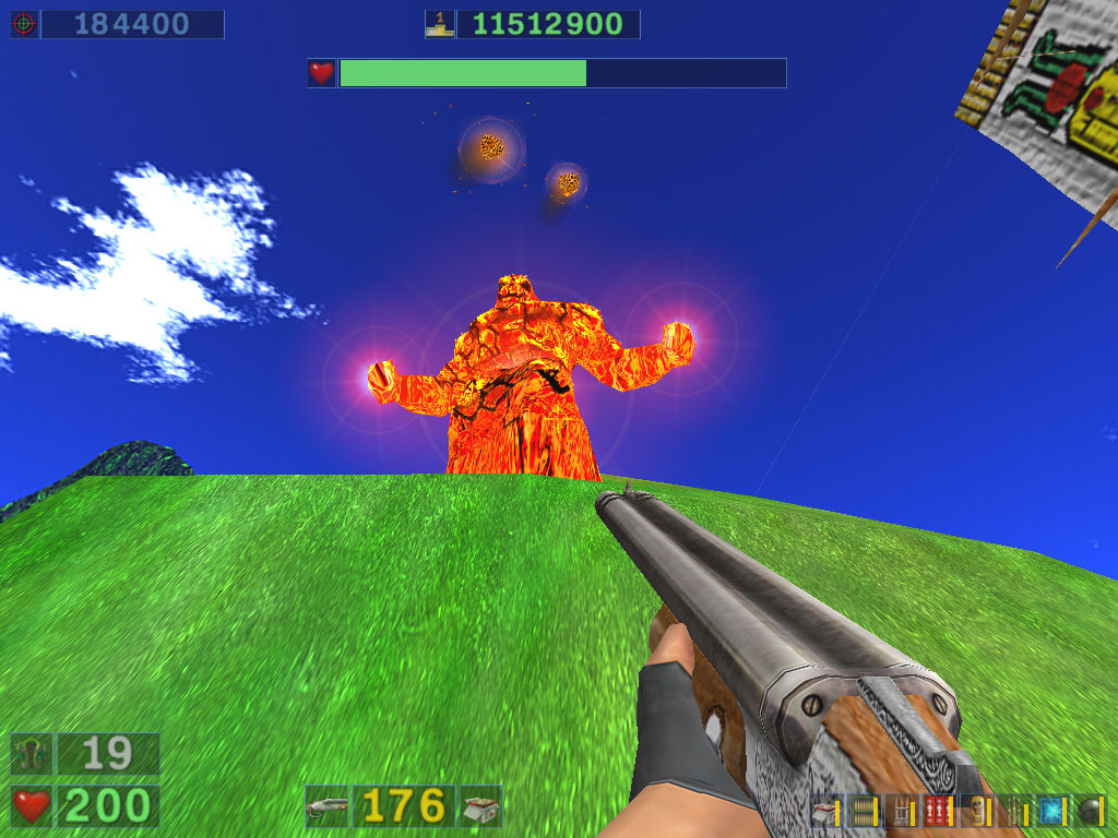 "Serious Sam: Gold Windows ""Dark Island"" episode: A ""hot"" enemy."