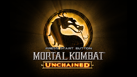 Mortal Kombat: Unchained PSP Title screen
