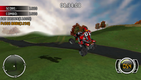 MX vs. ATV Untamed PSP 4 wheels... taking off like in the ET movie