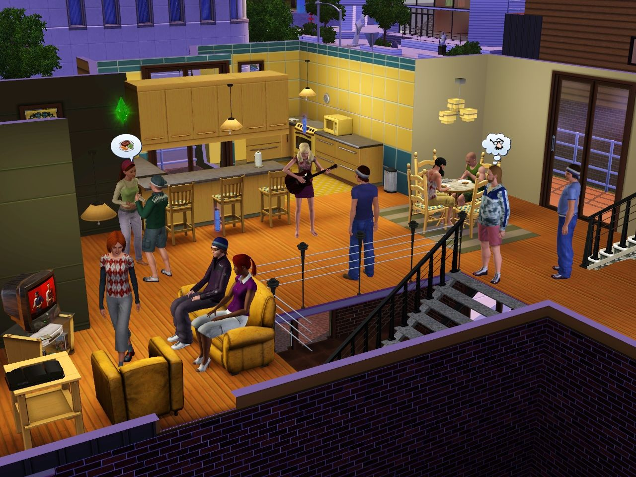 The Sims 3 Windows Havin' a party.