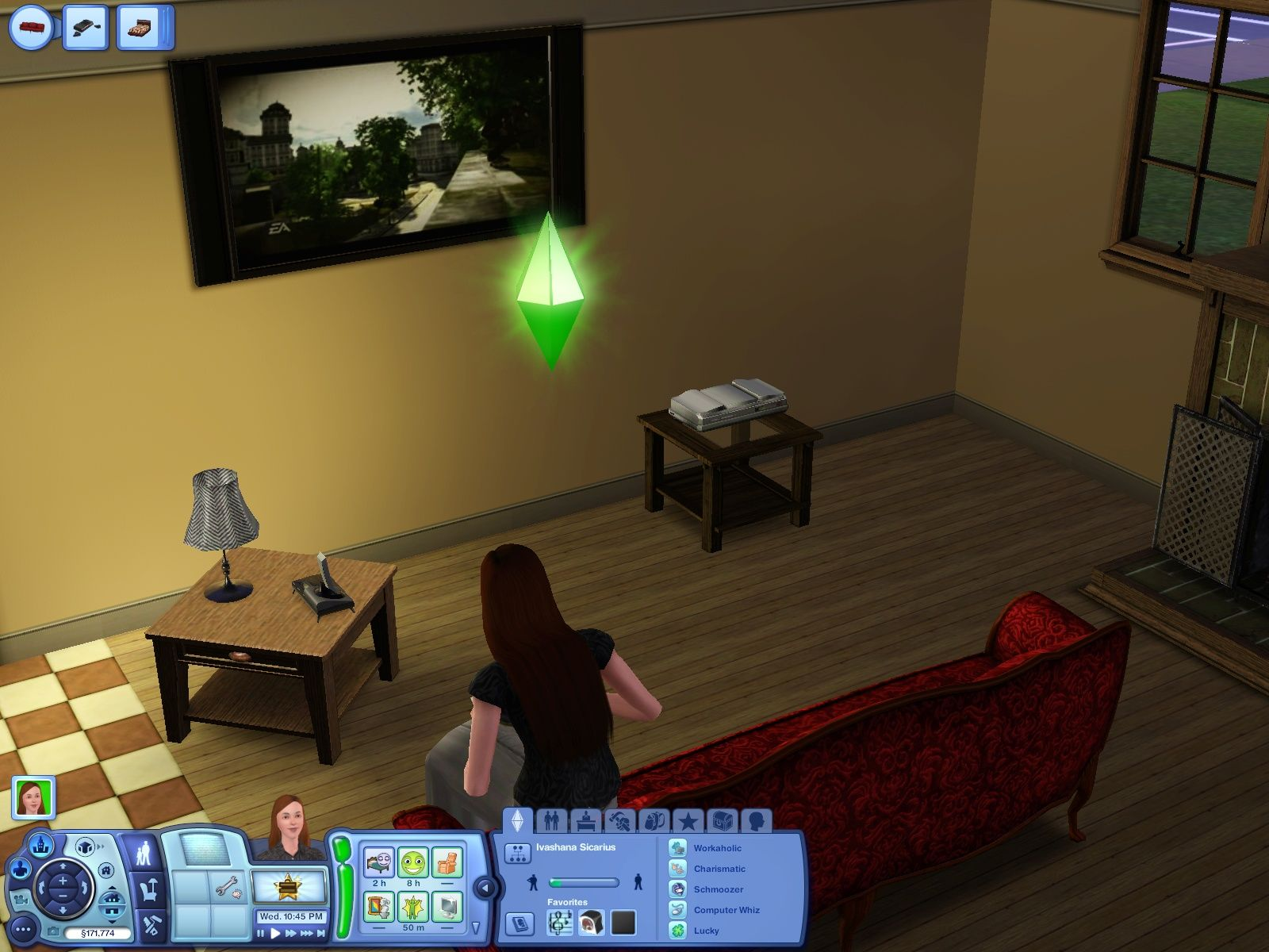 The Sims 3 Windows Playing skate on an otherwise fictious console.