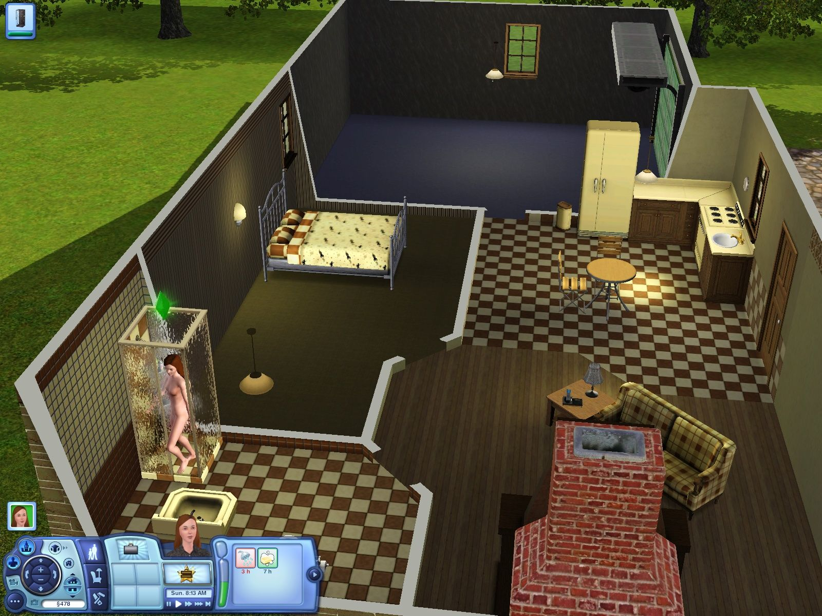 The Sims 3 Windows Don't look in the lower left corner - it's not officially there. Instead focus on decoration of the rest of the house.