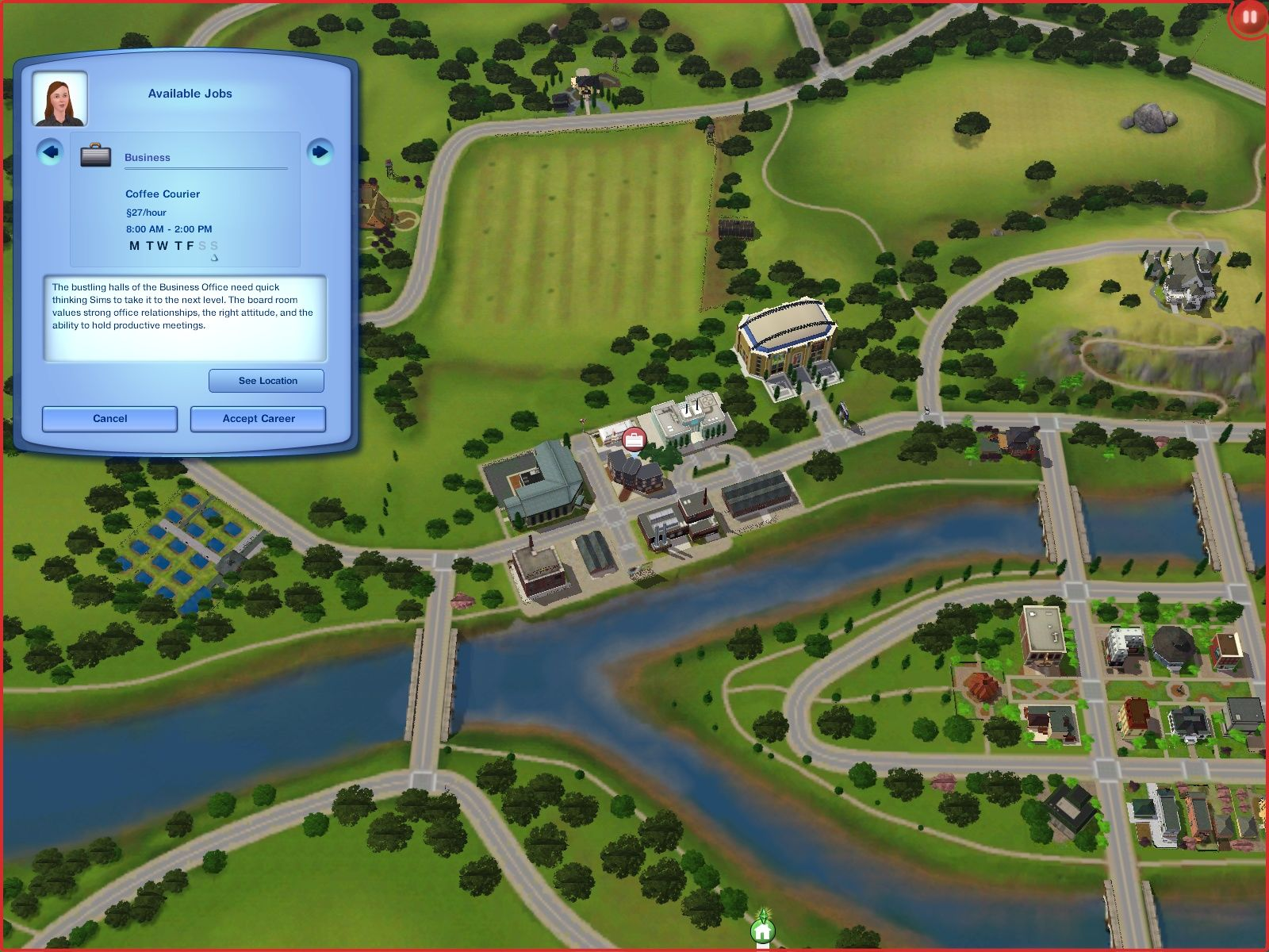 The Sims 3 Windows Looking or a job.