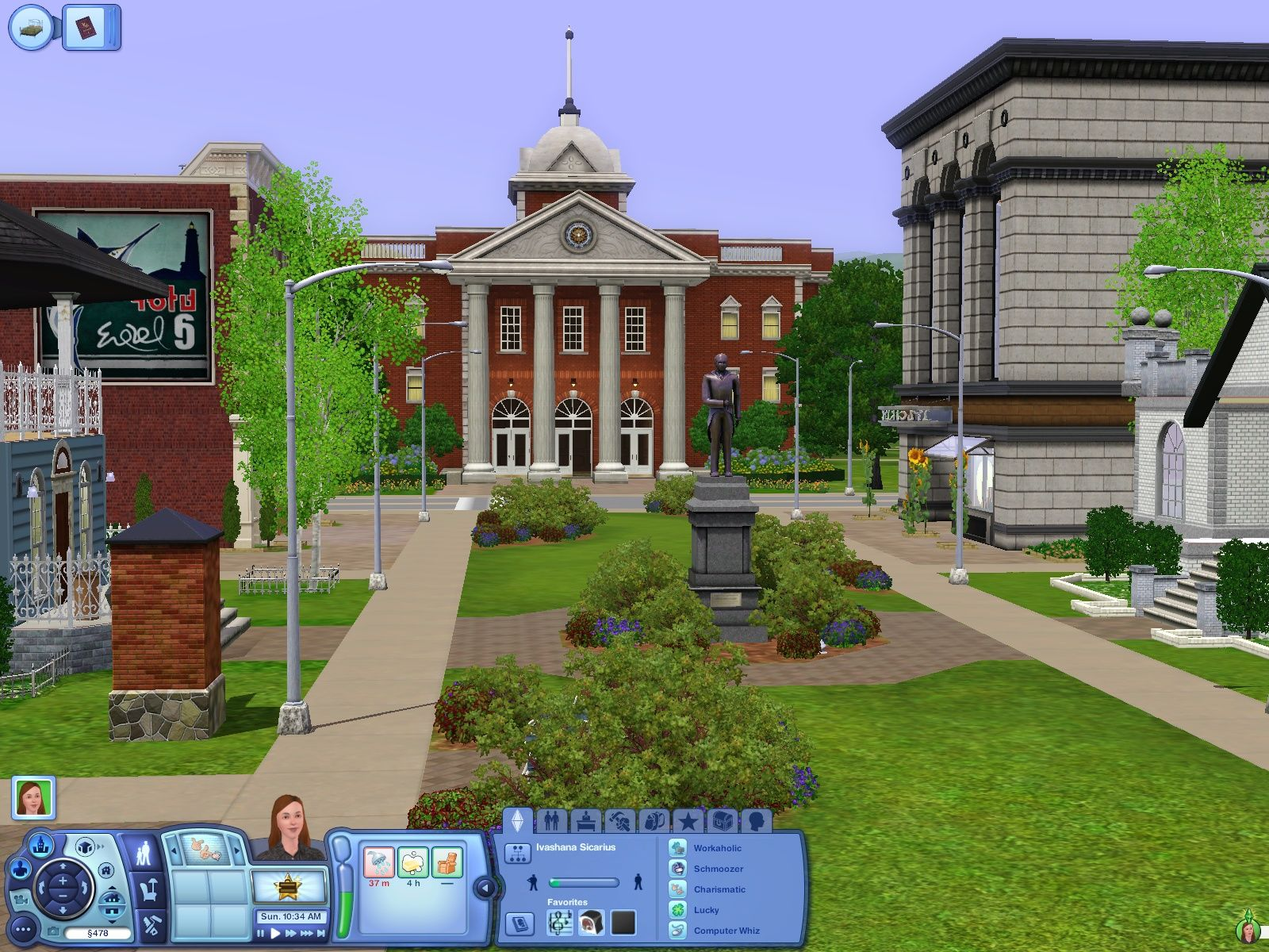 The Sims 3 Windows Nice look at the town hall.