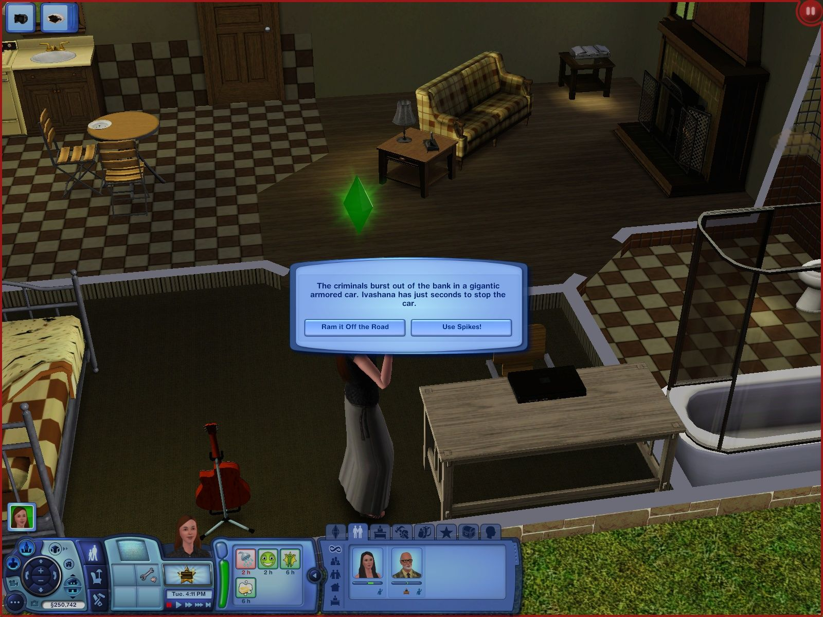 The Sims 3 Windows Playing an adventure-game and deciding what my sim should do.