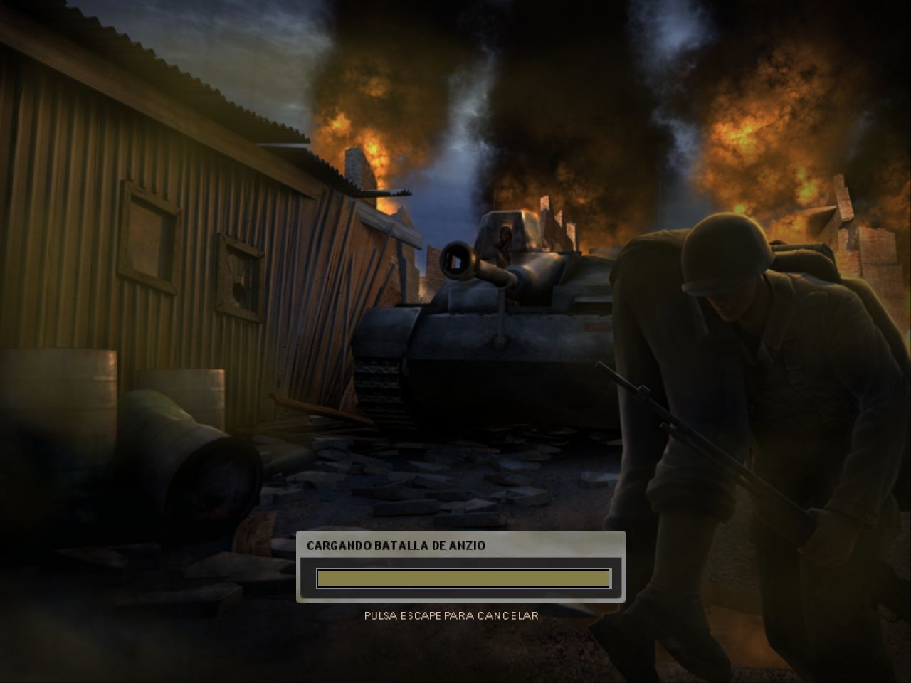Battlefield 1942: The Road to Rome Windows Anzio Battle loading screen, one of the new maps we can find in this expansion