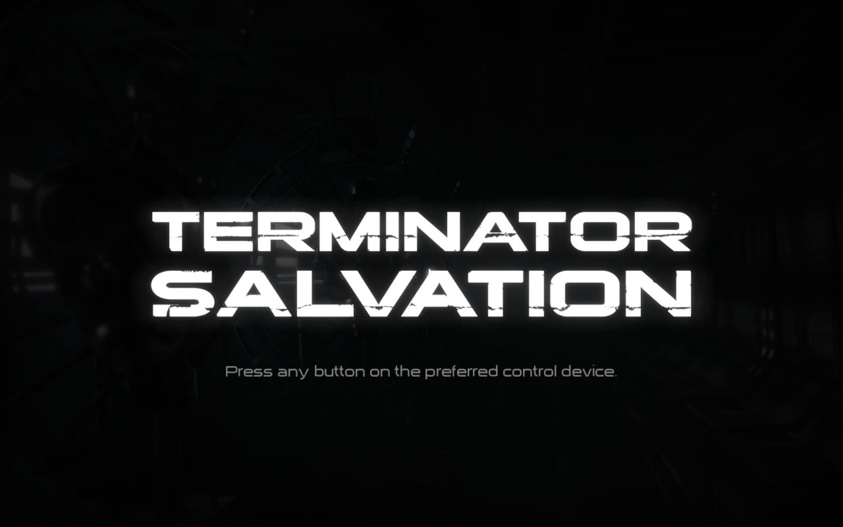 Terminator: Salvation Windows Title screen.