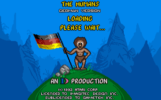 The Humans: Insult to Injury DOS Loading screen.