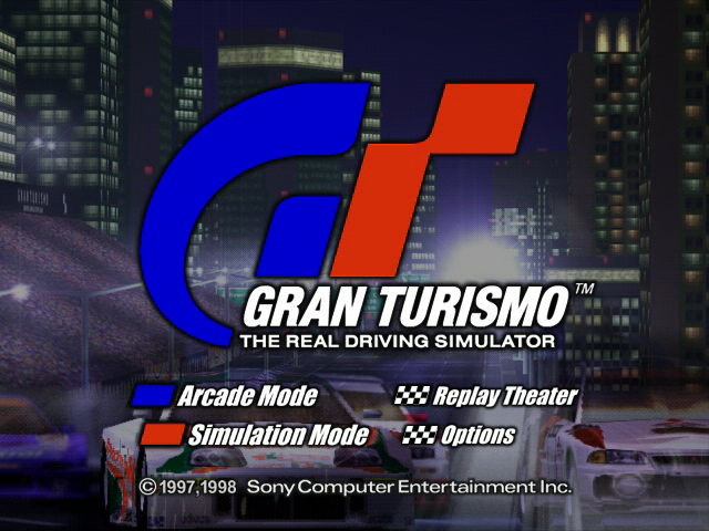 Gran Turismo PlayStation Title screen.
