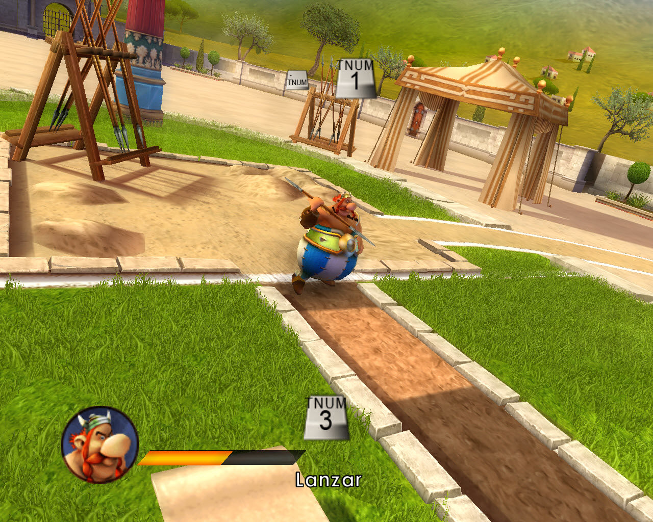 Asterix at the Olympic Games Windows Obelix starting the javelin games in Olympic mode