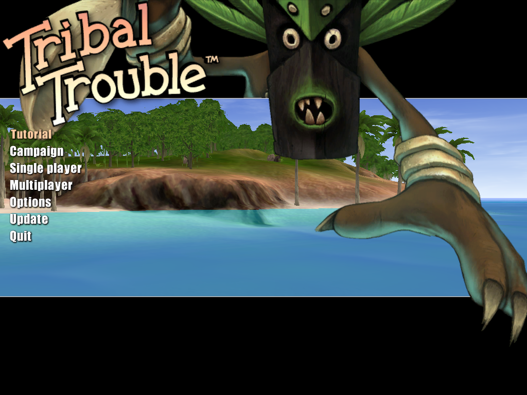 Tribal Trouble Macintosh Title screen