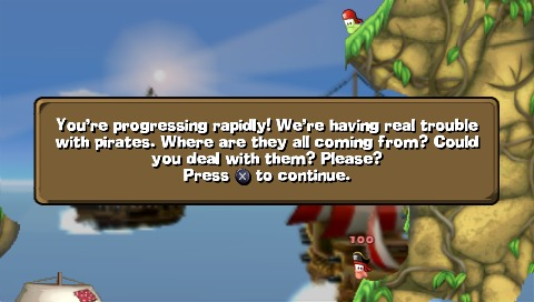 Worms: Open Warfare 2 PSP That's the mission briefing.