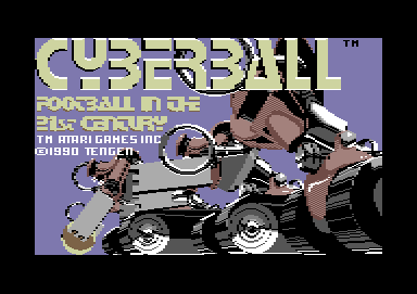 Cyberball Commodore 64 Loading screen