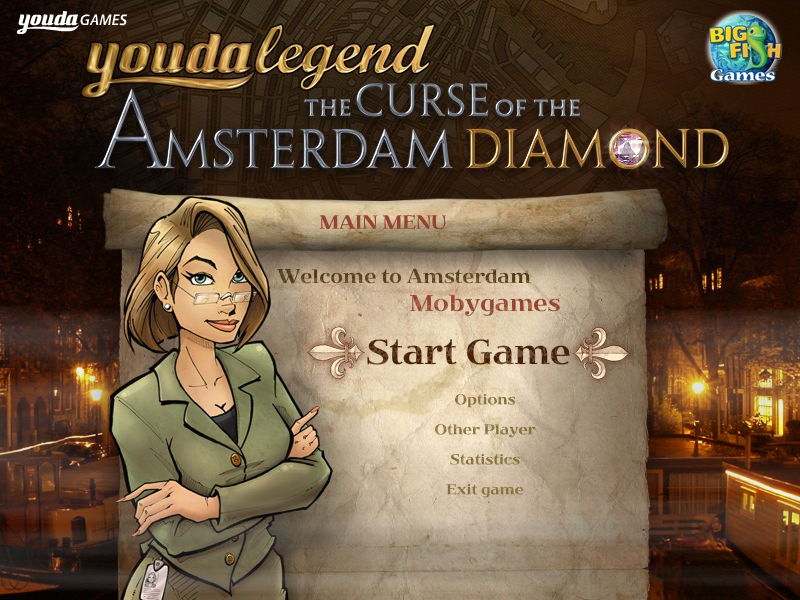 Youda Legend: The Curse of the Amsterdam Diamond Windows Start menu