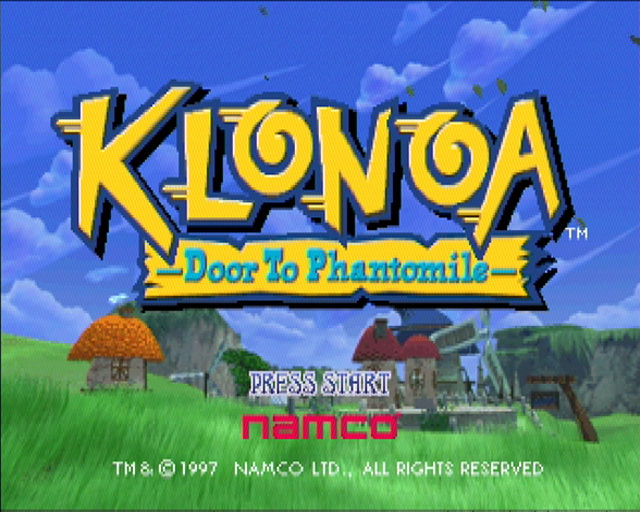 Klonoa: Door to Phantomile PlayStation Title Screen