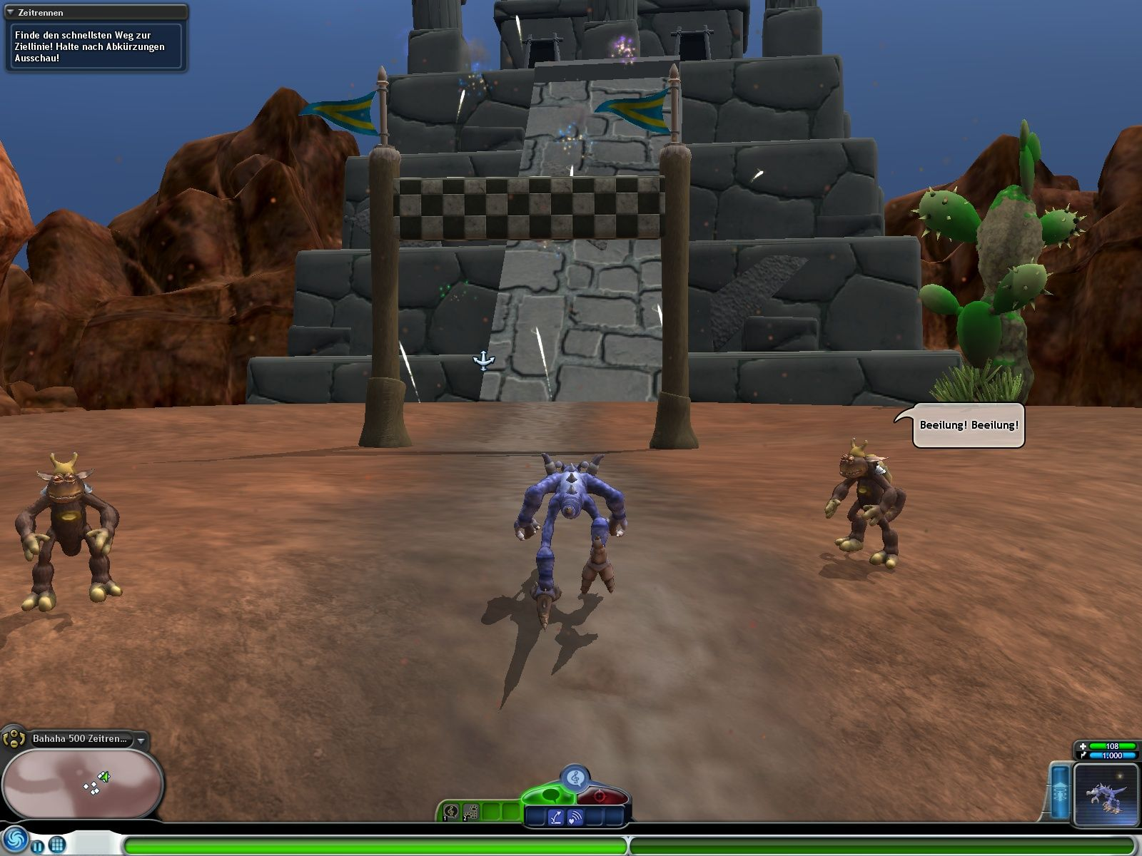 Spore: Galactic Adventures Windows This adventure has me trying to win a race.