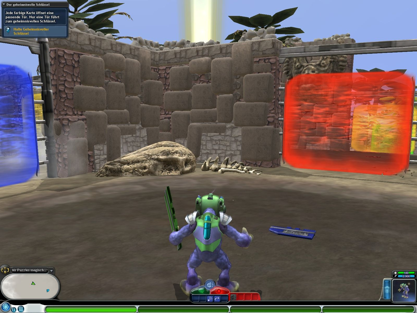 Spore: Galactic Adventures Windows A riddle - find your way through a mace of doors.