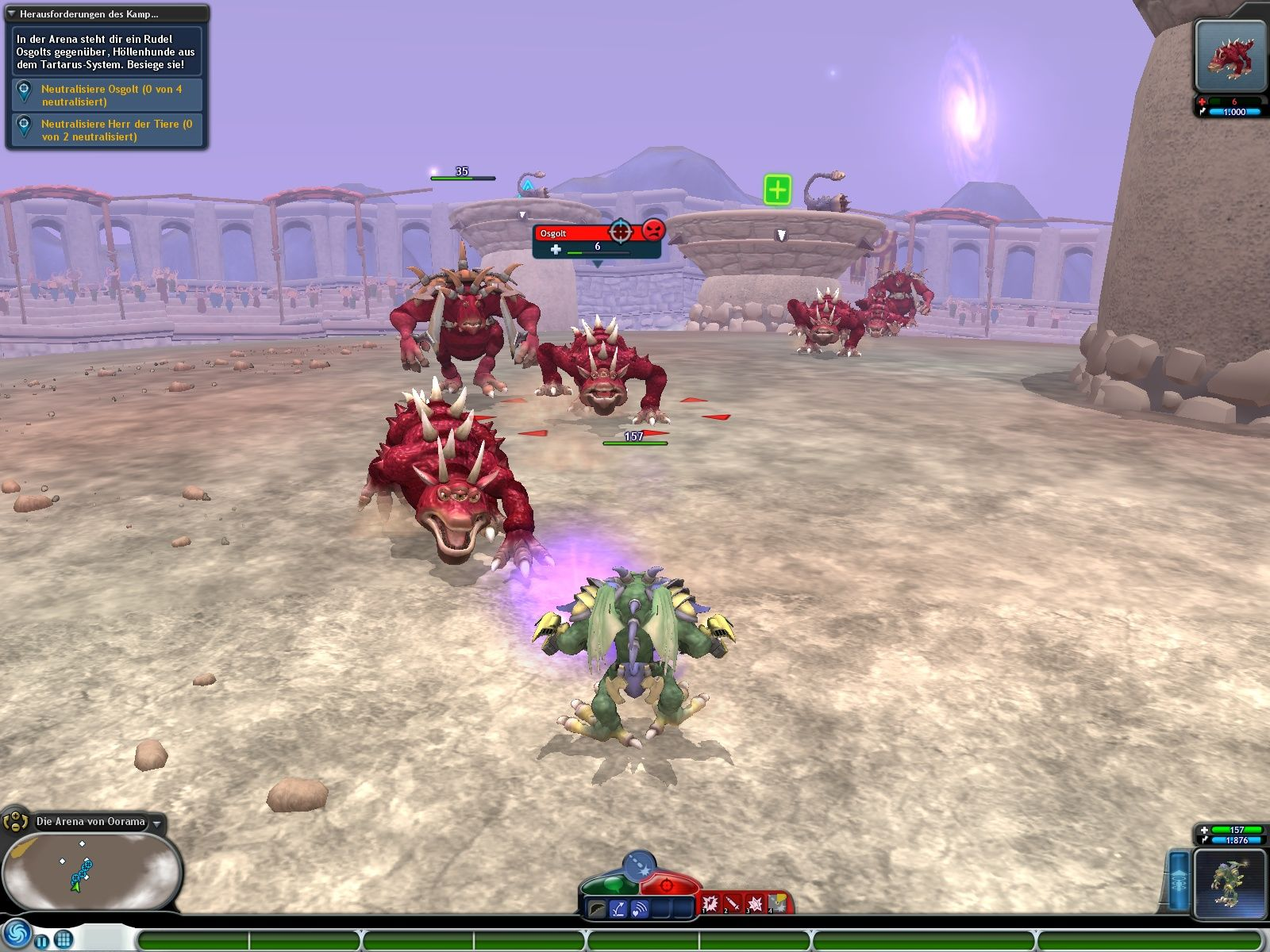 Spore: Galactic Adventures Windows Holding my own in an arena battle.