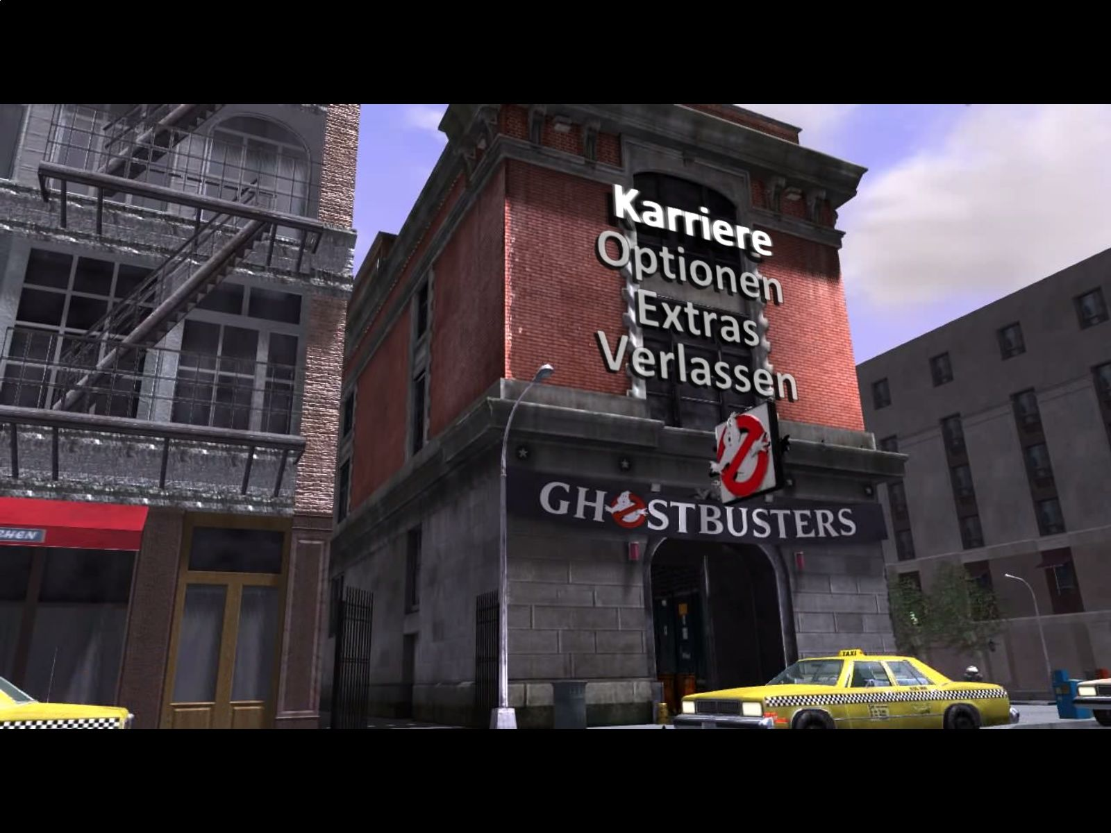 Ghostbusters: The Video Game Windows Main Menu
