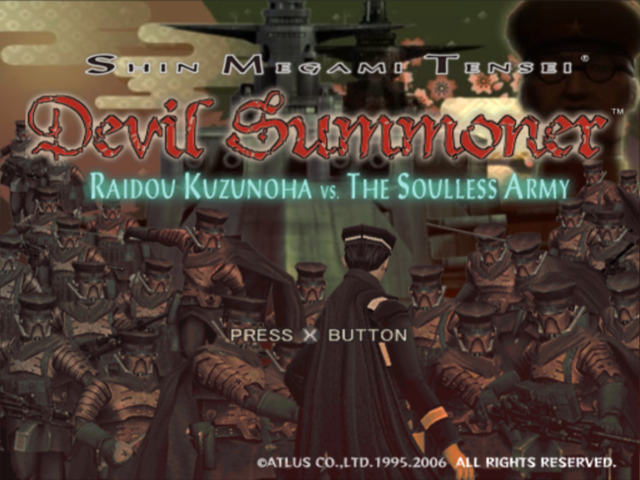 Shin Megami Tensei: Devil Summoner - Raidou Kuzunoha vs. the Soulless Army PlayStation 2 Title screen