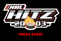 NHL Hitz 20-03 Game Boy Advance Here's the Title Screen...press start already!
