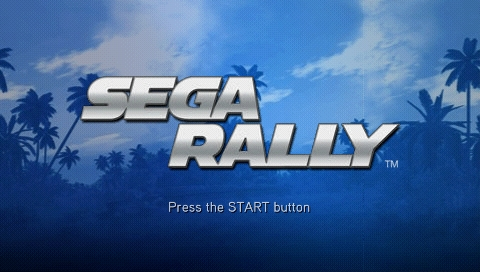 SEGA Rally Revo PSP Title Screen