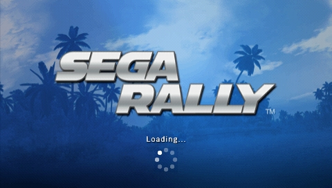 SEGA Rally Revo PSP Loading screen before the race