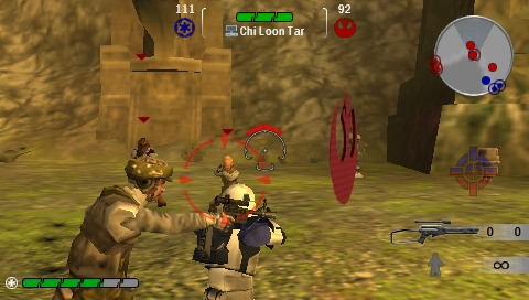 Star Wars: Battlefront - Renegade Squadron PSP Multiplayer: surrounded by Rebels.