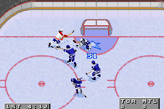 NHL 2002 Game Boy Advance Big save by the goaltender!