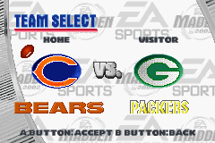 Madden NFL 2002 Game Boy Advance Choose a matchup from any of the 32 NFL franchises.
