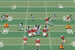 Madden NFL 2002 Game Boy Advance The icon passing system makes throwing to a receiver quick and simple.