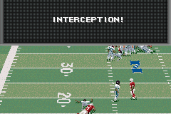 Madden NFL 2002 Game Boy Advance Fail to read your coverage right and this can happen.