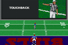 Madden NFL 2002 Game Boy Advance On kick returns, you can take the lazy way out and kneel for a touchback.