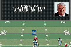 Madden NFL 2002 Game Boy Advance Long throw for a big gain.