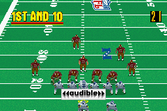 Madden NFL 2002 Game Boy Advance You can call audibles at the line of scrimmage, in case you don't like what you see on the other side.