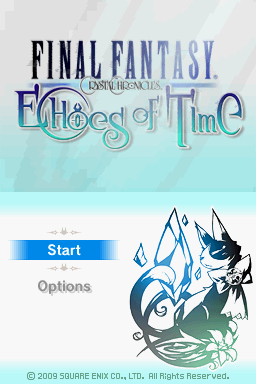 Final Fantasy: Crystal Chronicles - Echoes of Time Nintendo DS Title screen