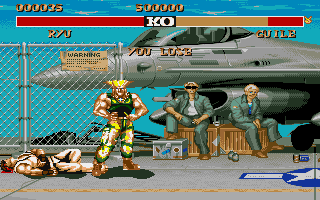 Street Fighter II Amiga Guile has won this round.