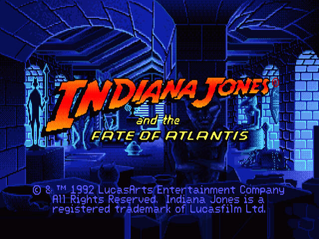 Indiana Jones and the Fate of Atlantis Windows Title screen