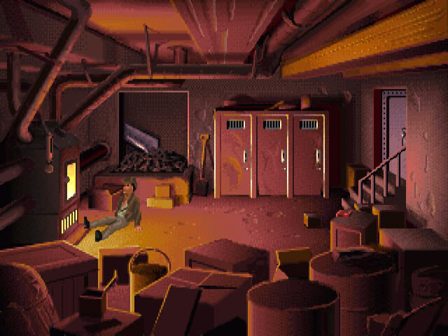Indiana Jones and the Fate of Atlantis Windows Furnace room.