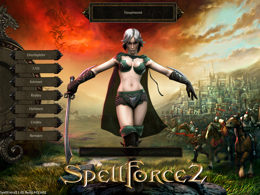 SpellForce 2: Shadow Wars Windows Main menu