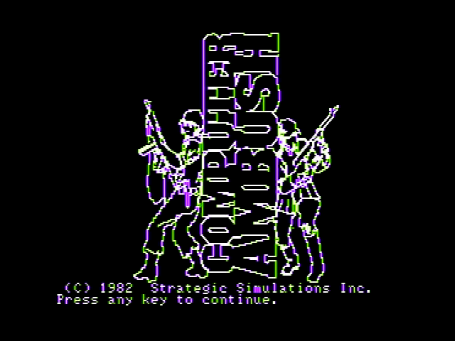 Computer Ambush Apple II Title screen
