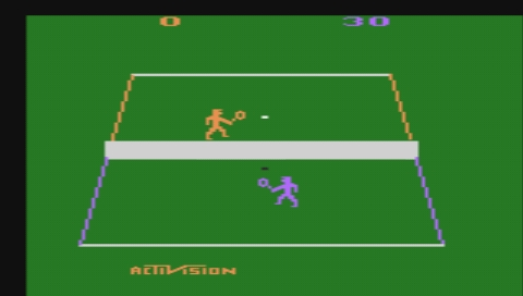 Activision Hits Remixed PSP Tennis stretched to full screen size